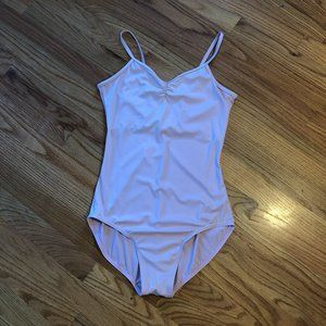 Pink Balera Pinch Front High Back Leotard